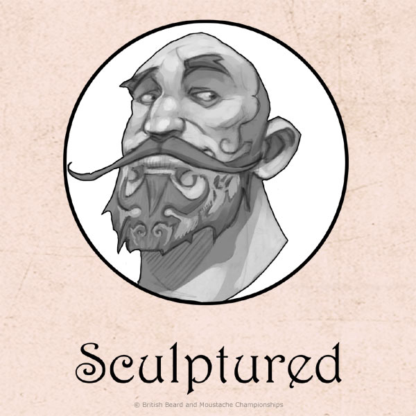 Scuptured/Barber-etched Beard Category
