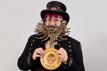 False Beard Winner - 1 Sarah Aplin - Photo Rick Harrison. Click to enlarge and for carousel