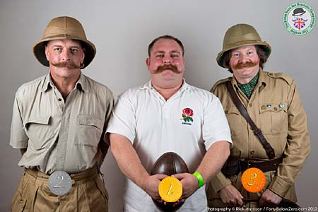 Natural Moustache Winners - 3 Paul Lewis - 2 Ron Polton - 1 Chris Wall - Photo Rick Harrison. Click to enlarge and for carousel
